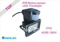 Free shipping by DHL/FEDEX LED Floodlight whit PIR Motion sensor Induction  Factory Outlet  LED Landscape Lighting