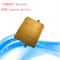 Free shipping GSM/DCS 900mhz/1800mhz dual band mobile phones signal repeater cellular phone booster 70db coverage 2000sqm