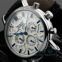 JARAGAR New 2015  Luxury Women's Men 6 Hands Auto Mechanical Watches Wristwatch Free Ship