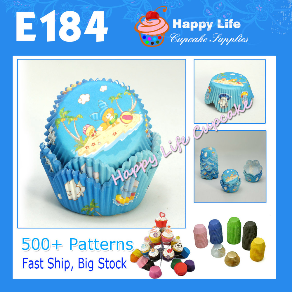 Free Gift !200pcs E184 Cute Cartoon Animas Design, PETAL Muffin cases cups cupcake liners,wholesale cupcake boxes Free Shipping!(China (Mainland))
