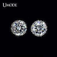 UMODE Multi Prongs 8mm 2ct Top Quality Swiss CZ Diamond Stud Earring UE0013