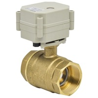 DC12V/24V Electric Flow Control Valve 1 1/4'' brass two way 29mm bore 2wires 1.0Mpa for water work