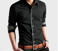 2013 Free shipping new fashion men' s long shirts!Cotten and big size have,men 's polo shirt,, hotsale men 's clothes.