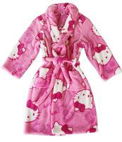 Child cartoon coral fleece robe kids bathrobes thermal sleepwear lounge chromophous lovely children robes