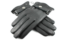 Free shipping winter warm men's leather gloves