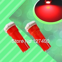 2pcs T5 1 SMD Red Dashboard Wedge 1 LED Interior Car Light Bulb Lamp