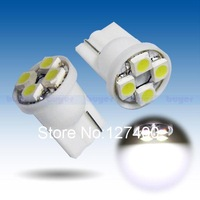 2pcs T10 4 SMD License Plate Pure White 194 W5W 4 LED Car Light Bulb Lamp