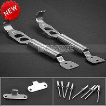 2 Pcs/Set Universal Racing Car Engine Bonnet Pin Hood Lock Latch Silver Color Free Shipping (China (Mainland))