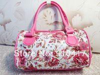 fashion nice print women's one shoulder cross-body PU handbag free shipping