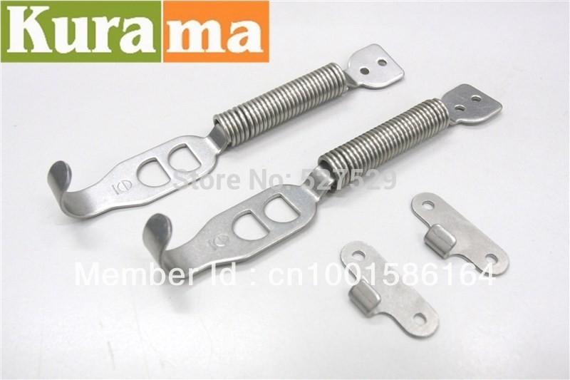 1 Pair Racing Steel Spring Hood kit hook Lock Hinge security Alloy Silver truck hood(China (Mainland))