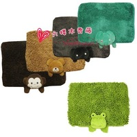 New Arrival Quality Chenille Animal Shapes Mats Rabbit / Panda / Frog/Elephant Cartoon Mats Bathrooms Mats Free Shipping.