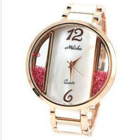 Free shipping, new fashion luxury watches Milisha Rhinestone Crystal sallei fashion ladies watch diamond watch