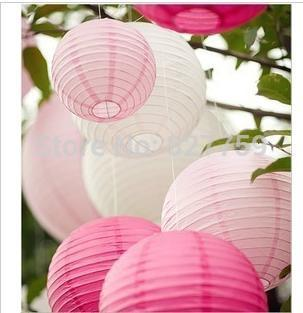 "Wholesale - Free shipping 10pcs 10cm(4"") Chinese round paper lantern wedding lantern festival decoration(China (Mainland))"