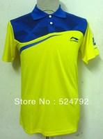 wholesale!free shipping 2013 li ning men's table tennis clothing/badminton game Polo Shirts  Sportswear new 4 color