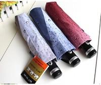 Ultralarge fully-automatic san xiang umbrella personalized drop umbrella denim sun protection umbrella folding umbrella