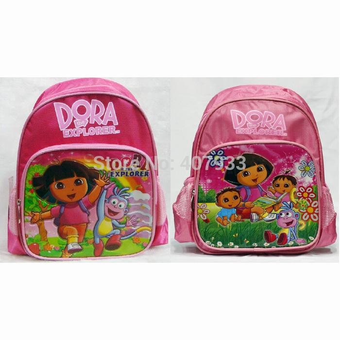 2 estilo aleatório Dora Backpack 1pcs 10 * 4 * 13'' de alta qualidade Nylon Dora a Bolsa Escola Crian?a Explorador(China (Mainland))