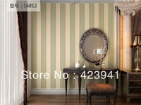 10m*53cm Simple black and white and widen the striped wallpaper vertical stripes project wall paper wall stickers home decor