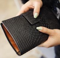 Fashion Crocodile pattern long size clutch Genuine leather women Wallet Ladies Purse girl Handbag drop shipping WBG0275