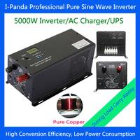 5000W 5KW pure sine wave inverter with charger 24v 48v for solar panel power system 24v 48v