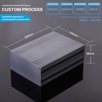 aluminum enclosure for  audio amplifier  145x68x150 mm / 5.7''x2.67''x5.9'' (wxhxl)