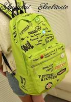 2014 women  Fashion letter print lovers  bag casual  school bag travel bag  free shipping