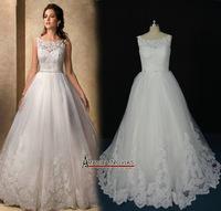 Amazing New Model Sleeveless Empire Waist Wedding Dress Custom Size VS39