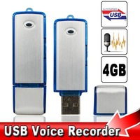 2in1 Voice Recorder 4GB USB Digital Audio Voice Recorder Dictaphone Flash Drive Disk WAV Format Mini Recorder times 15hours