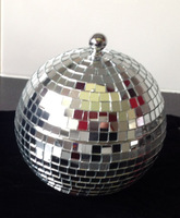Glitter Disco Ball Cocktail Sharer 2L/ Mirror Glass Mosaic With SS Steel Vessel/ Can Be Used As Ice Bucket/ Glowing Barware