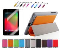 For Google Nexus 7 1st Gen 2012 Slim Magnetic PU Leather Case Smart Cover + Film + Stylus