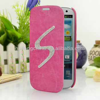 2013 hot sell new style with Fashion personality beautiful lady rhinestone Fold for case forcase forcase for case for samsung