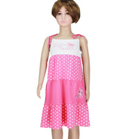 Evening dress for girls new fashion 2013 with sequins dot size 4-12  dark pink long sundress promotion #5805-3 Free Shipping