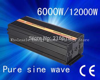 Free shipping!6KW Pure Sine Wave Power Inverter 12v/230v(CTP-6000W)