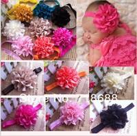 Trial Order Eyelet Flowers On Baby shimmer soft Headbands 30PCS/LOT ByAngelBaby headwear