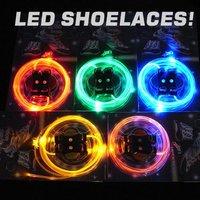 DHL/fedEx free shipping 200pcs(100pairs)/lot Novelty Glow Led flash laces Led shoestring Muti-color LED shoelace in stock