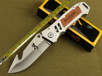 Free shipping Browning tactical knife 56HRC outdoor survival knives camping hunting pocket folding knife