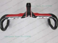 NEW ARRIVAL, NESS Full Carbon Road Bike Handlebar integrated Stem,Black red NESS bicycle,Size:400/420/440MM free shipping