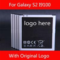 Wholesale Original Logo Battery for Samsung i9100 Galaxy S2 Free shipping 100pcs/lot