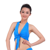 2014 cropped top women Indian dance belly dance top clothes practice service tieclasps leotard double bra lacing