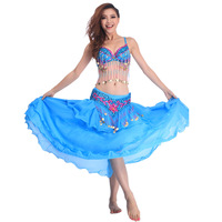 egypt belly dancing costume dancewear women Belly dance clothes set indian quality performance costume 3 pieces bra&belt&skirt