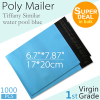 [Virgin Grade] 17*20 cm - 6.7*7.87 inch, 1000PCS Plastic Mailers Bag, Blue Poly Mailing Courier Envelope, by Express Posting