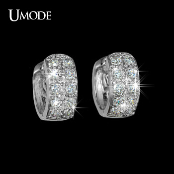UMODE Round Loop with tiny CZ small Hoop Earring UE0016(China (Mainland))
