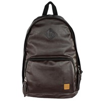 2013 new men's PU  fashion zipper student  backpack P024