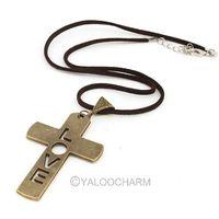 Women's fashion New Vintage Unique love  Cross Pendant 6.3*4 cm charms Necklace 61787