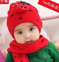Wholesale and Retail Fashion baby hat baby cap cartoon infant hat headress scarf &cap set winter design