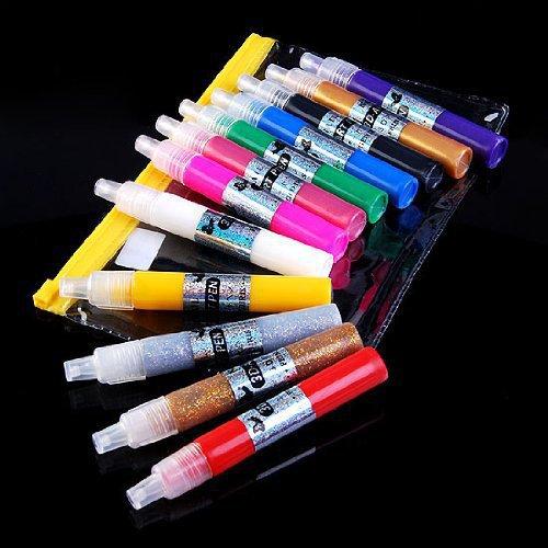 1PCS 3D Paint Nail Art DIY Polish Pen Uv Gel Acrylic Tips Set Salon Beauty(China (Mainland))