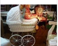 Home furnishings Props props luxury trolley rattan wheelbarrow Photographic prop ornament