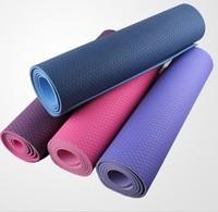 Eco-friendly tpe yoga mat 6mm yoga mat slip-resistant thickening yoga mat