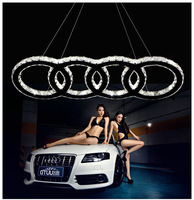 2013 new design LED lamp AUDI logo lamp fashionable design have two ring,three ring four ring accoring your demand free shipping