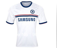 New Arrival!13-14 3A+++ Thai Quality Chelsea away white soccer football jersey sport wear  football shirt  free shipping