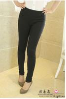 2014 Spring Fall Autumn New Brand fashion women pants casual cotton legging plus size L XL XXL XXXL 4XL black knit leggings